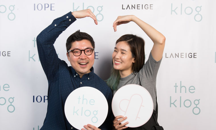 Dave and Charlotte Cho founder of Soko Glam at The Klog launch party