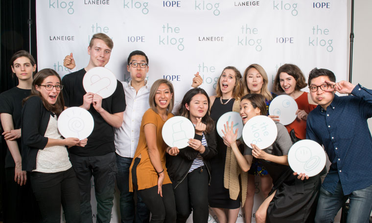 The Klog launch party in New York with Dave and Charlotte Cho and the Klog core team