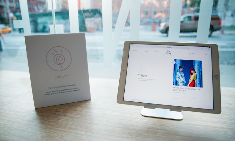The launch party of the Korean skin-care website, The Klog in New York