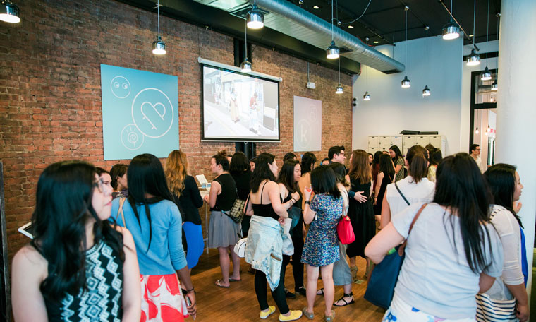 Women attending The Klog launch party in New York