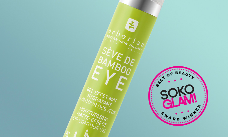 Erborian Seve De Bamboo Eye Matte won the 2016 best gel eye cream award from Soko Glam