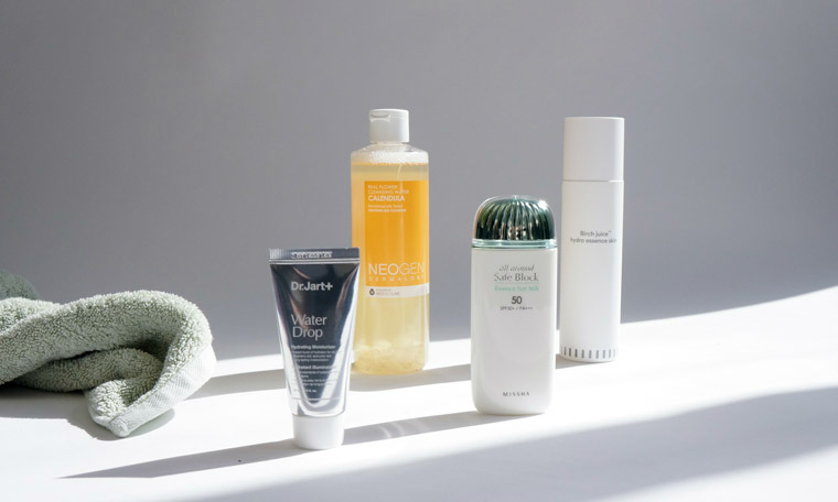 Pre- and post-workout skin care routine