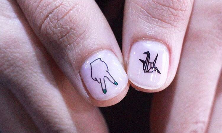 Tattoo Nails Are the Coolest Korean Nail Art Trend